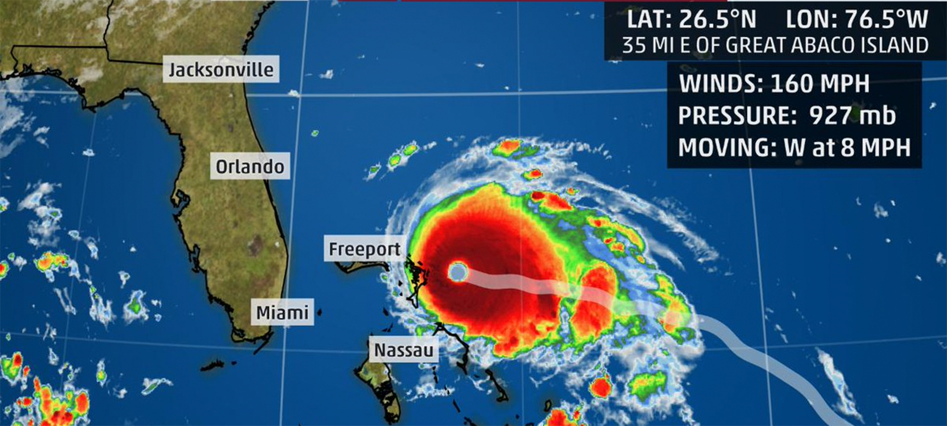 Hurricane Dorian was an extremely powerful and devastating Category 5 Atlantic hurricane, that became the most intense tropical cyclone on record to strike the Bahamas. In preparation for the storm, the state of Florida declared a state of emergency and many coastal counties from Florida to North Carolina issued mandatory evacuation orders.