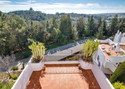 The view from the terrace at Apartamento De Lujo En Marbella, Nueva Andalucía