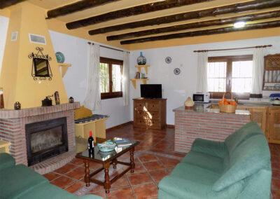 The living area at Casa Benisalte, Órgiva