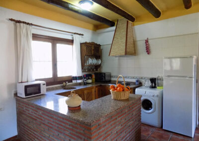 The kitchen at Casa Benisalte, Órgiva