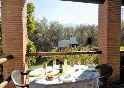 The patio & alfresco dining area at Casa Benisalte, Órgiva