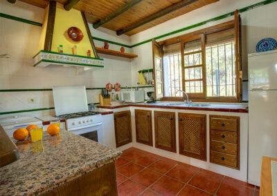 The kitchen at Casa Buganvilla, Órgiva