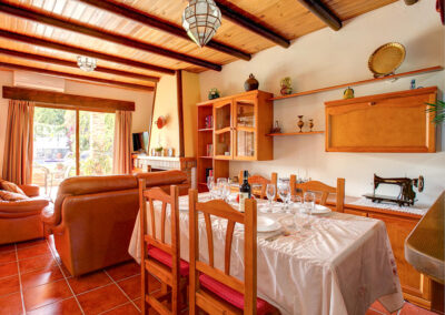 The dining area at Casa Buganvilla, Órgiva