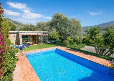 The swimming pool at Casa Buganvilla, Órgiva