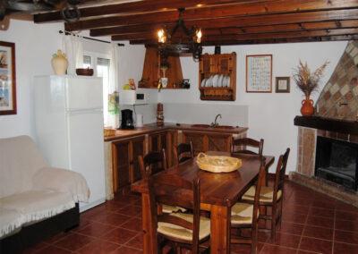 The open plan living, dining area & kitchen at Casa de la Monja, Villanueva de la Concepción