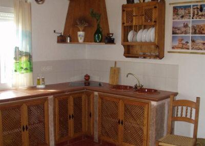 The kitchen at Casa de la Monja, Villanueva de la Concepción