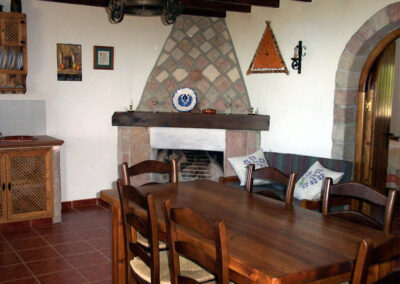 The dining area at Casa de la Monja, Villanueva de la Concepción