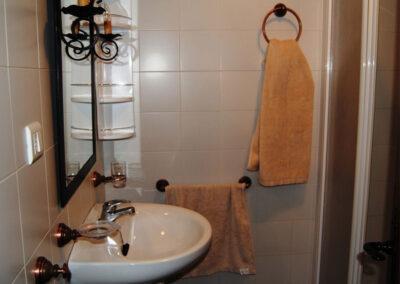 The shower room at Casa de la Monja, Villanueva de la Concepción