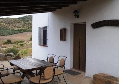 The patio & alfresco dining area at Casa de la Monja, Villanueva de la Concepción