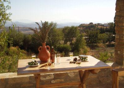 The view from the patio & alfresco dining area at Casa de la Monja, Villanueva de la Concepción