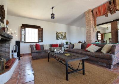 Living area #1 at Casa El Cielo, Almogía