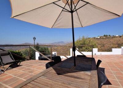 Far reaching countryside views from the patio at Casa El Cielo, Almogía