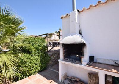 The barbecue area at Casa El Cielo, Almogía