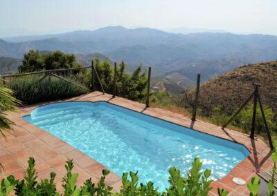 The swimming pool at Casa El Cielo, Almogía