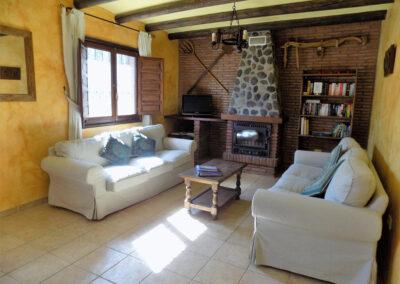 The living area at Casa El Valle, Órgiva