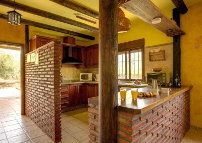 The kitchen at Casa El Valle, Órgiva
