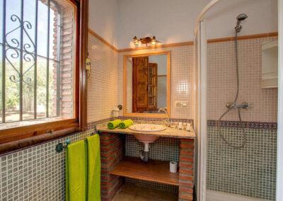 The bathroom at Casa El Valle, Órgiva