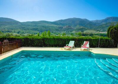 The swimming pool at Casa El Valle, Órgiva