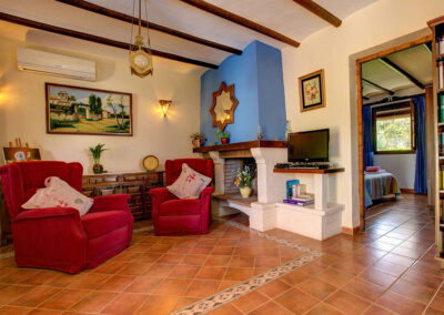 The living area at Casa Encantadora, Órgiva