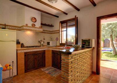 The kitchen at Casa Encantadora, Órgiva