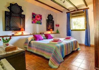 The bedroom at Casa Encantadora, Órgiva