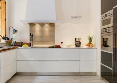 The kitchen at Casa Feliz, Frigiliana