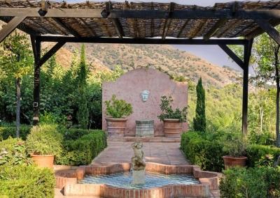 The gazebo & gardens at Casa Feliz, Frigiliana