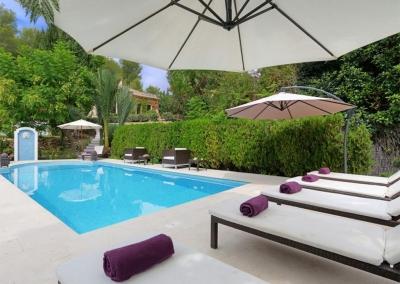The swimming pool at Casa Feliz, Frigiliana
