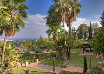 The garden & ocean view from Casa Feliz, Frigiliana