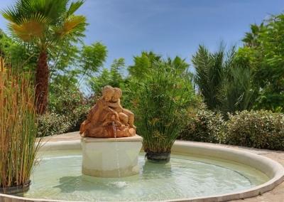 The pond & fountain at Casa Feliz, Frigiliana