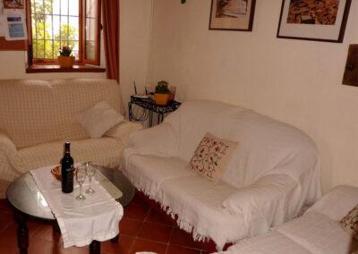 The living area at Casa La Palmera, Arroyo Coche