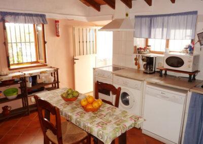 The kitchen at Casa La Palmera, Arroyo Coche