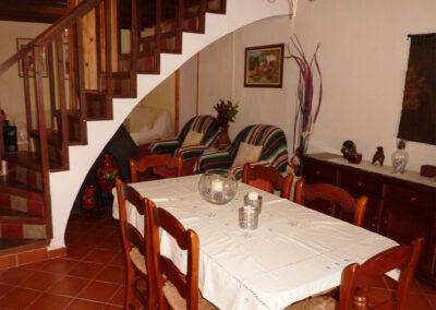 The dining area at Casa La Palmera, Arroyo Coche