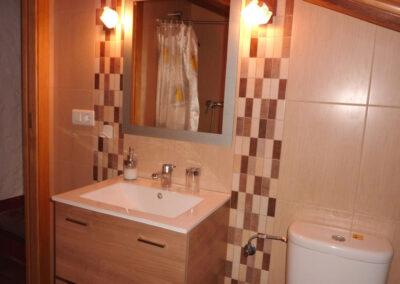 The shower room at Casa La Palmera, Arroyo Coche