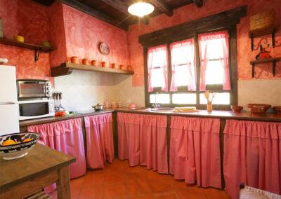 The kitchen at Casa Montaña, Gaidovar
