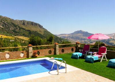 The swimming pool & panoramic views at Casa Montaña, Gaidovar