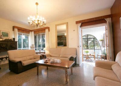 The living area at Casa Rilke, Ronda