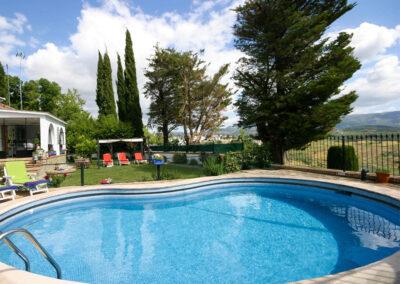 The swimming pool at Casa Rilke, Ronda
