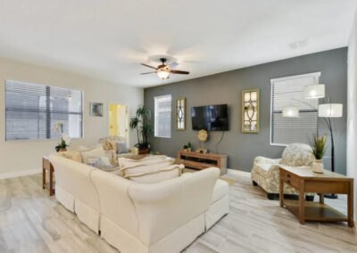 The living area at Championsgate 84, Davenport