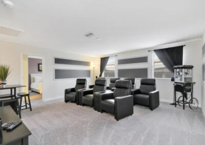 The home theatre room at Championsgate 84, Davenport