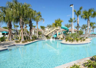 The resort swimming pool at Championsgate, Davenport
