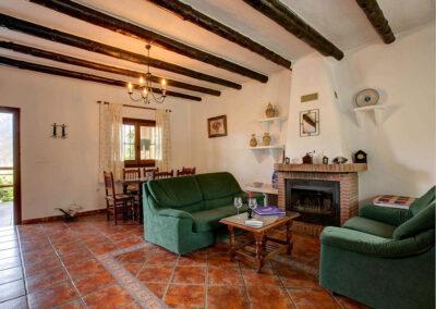The living area at Cortijo Las Gallinas, Órgiva