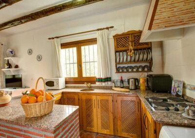 The kitchen at Cortijo Las Gallinas, Órgiva