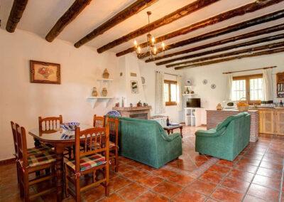 The dining area at Cortijo Las Gallinas, Órgiva