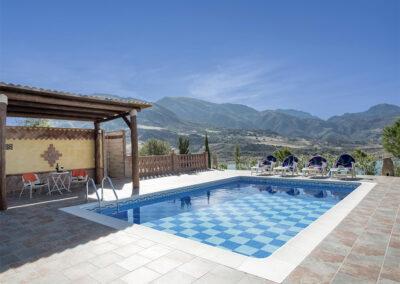 The swimming pool at El Dolmen de Alaju, El Gastor