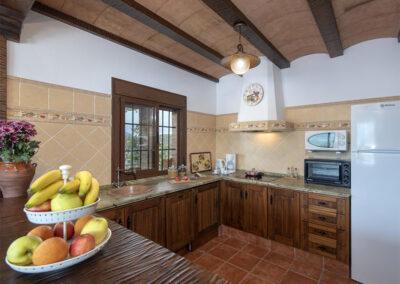 The kitchen at El Huertecillo, El Gastor