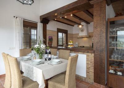 The dining area at El Huertecillo, El Gastor