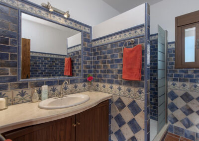 Shower room #1 at El Huertecillo, El Gastor