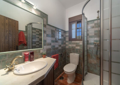 Shower room #2 at El Huertecillo, El Gastor