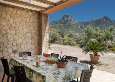 The covered terrace & alfresco dining area at El Huertecillo, El Gastor